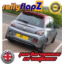 VAUXHALL ADAM 'S'  (2015+) BLACK MUDFLAPS (Logo White & Red)